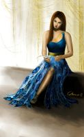 Yule Ball - Hermione's Dress (Front) by Catherine-PL