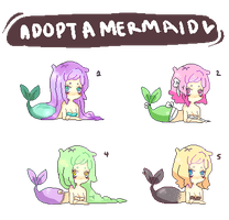 mermaid adoptababes by solarsign