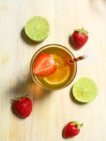 Strawberry + Lime Iced Tea by ElyneNoir