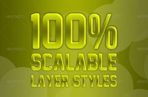 7 Scalable Layer Styles by artnook