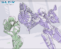 HLDW  step 2  - Armored ladies by biduke