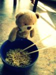 Teddy and Noodles by Reilune