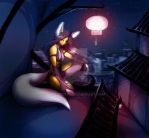 FOX UNDER THE LIGHT by WhiteFox89