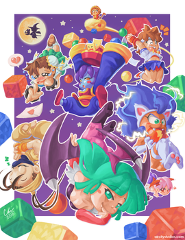 Capcom Fighting Tribute - Super Gem Fighter Drop by Air-City