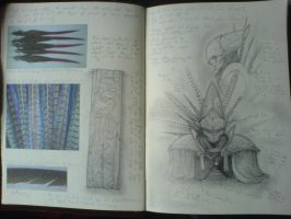 Sketchbook page by danielokeefe