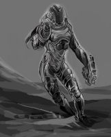 SPACEFIGHTER: GREY SCALE by Untilgledas1