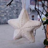 Star - knitted Christmas ornament by KnitLizzy