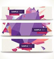 Geometric Banners Vector Graphic by Designslots