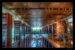 Clinton's Library Interior HDR by joelht74
