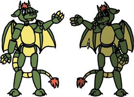 Dopy the Dragon for LobsterPolice by imaprettypeacock