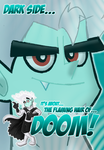 Beware The Flaming Hair of DOOM ID by MRottDawgBarks