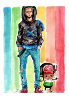 Watercolor Zoro for my Jean by Mugi-girl