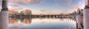 Darling Harbour Sunrise Panorama by Lori-P-Photography