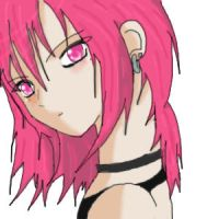 Pink Haired Girl by Louy7