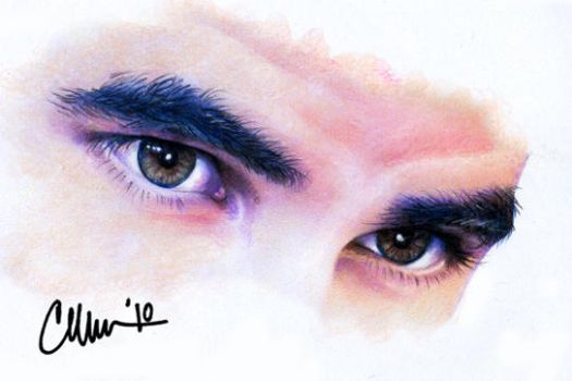 Darren Criss-Drawing-Eyes by Live4ArtInLA