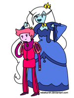 -Request- Prince Gumball and Ice Queen by Rebeka-KH