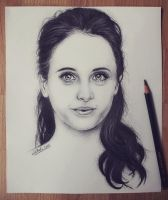 Felicity Jones portrait 2 by realm-of-lost-minds