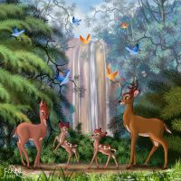 BAMBI AND HIS FAMILY by FERNL