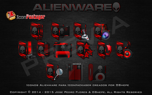 Previa Icons Alienware Red 2014 by DShepe by DShepe
