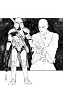 Commanders and Generals: 187th CC/Mace Windu Inks by Hodges-Art
