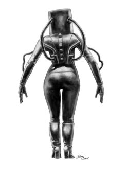 Woman with weird suit by mrbiagy