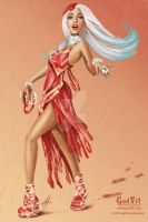 Lady Gaga Meat Dress by GudFit