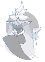 White Diamond and Pearl by french-teapot
