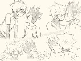 Gon x Killua (Sketch) by xxDaisuki-Koixx