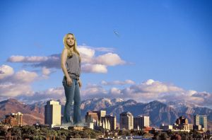 Giantess in the city 11 by lala222221