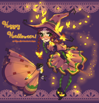 PKMN - Happy Halloween with Willowring by Ai-Bee