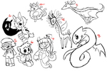 Some cool free doodle adopts -closed- by SecretMonsters