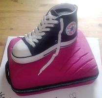 Converse cake by Dragonsanddaffodils