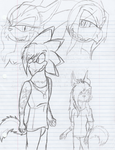 Xeon And His Brother w/ biological parents sketch by Mighty-C-amurai