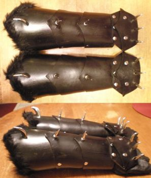 Wolf Demon Gauntlets by Shadowfox012