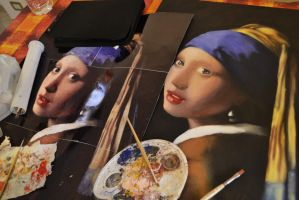 Girl with a pearl earring - work in progress by thesilencelistener