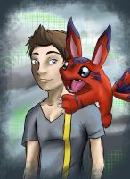 Some Dude with an Elecmon by Alleforte