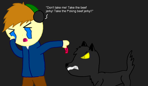 Pewdiepie - 'TAKE THE BEEF JERKY!' by Dragonsong3