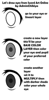 How to draw/color eyes using SAO style by AdminChibiya