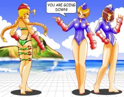Cammy Vs Juni And Juli, 2 on 1 by hect06