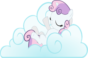 Sweetie Belle on Cloud 9 by BakaBrony