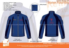 Jacket Design Stylish Futurist by Reinsstudio