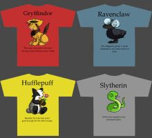 HP Houses Tshirt Designs by panoramagraphics