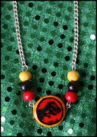 Custom Jurassic Park necklace by citruscouture
