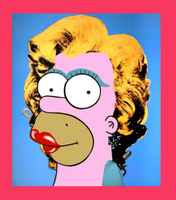 Marilyn Monroe Homer by Homey98