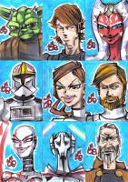 PSC SW Clone Wars set of 9 by jasinmartin