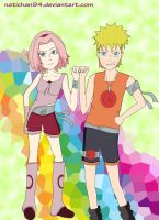 NaruSaku Best Friends by natichan94