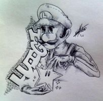 luigi with-a-starman by InfamouslyDorky