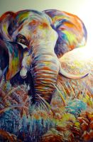 Elephant #9 by ArtbyjoelK