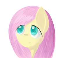 Fluttershy's Face by Sharkwellington