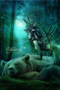 Totem Spirit - Bear by Ellyevans679